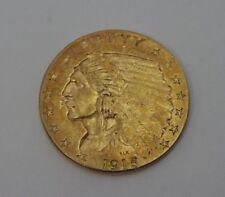 1915-P Indian Head $2.50 Gold US Mint  Quarter Eagle, GREAT CONDITION  *AU-UNC*