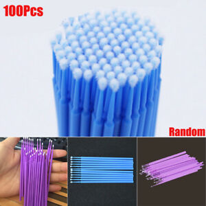 100Pcs Touch Up Paint Micro Mini Brush Large / Small Tips - Micro Applicators zy