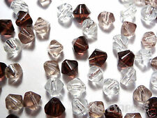 100pc 6mm Crystal Glass Bicone Beads - Amethyst Purple Mix Value Pack