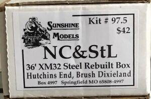 Sunshine NC&StL XM 32 36 ft Rebuilt boxcar kit Sunshine Kit No. 97.5