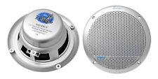 Lanzar AQ5DCS 300 Watts 5.25'' Dual Cone Marine Speakers (Silver Color) (Pair)