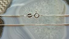 """Sterling Silver 925 Box-link Chain 14"""" necklace 019 gage SC#15"""
