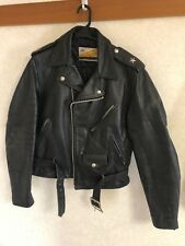SCHOTT 613 ONE STAR PERFECTO SIZE38 LEATHER DOUBLE JACKET STEERHIDE