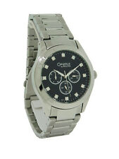 Caravelle by Bulova 43C111 Men's Round Black Analog Day Date Crystal Watch