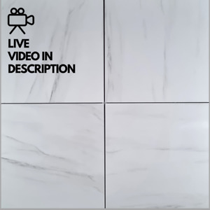 Cool White Marble Effect 60x60cm Porcelain Wall And Floor Tiles - 10m² Job Lot