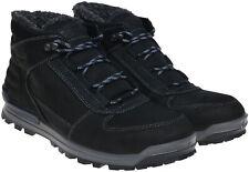 Ecco Oregon Warmlined Hydromax Black Leather Men's Boots UK Size 9 EU 43