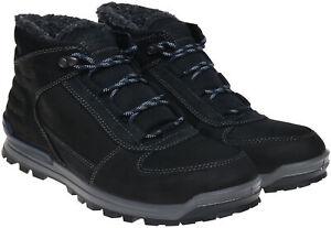 Ecco Oregon Warmlined Hydromax Black Leather Men's Boots UK Size 8 - 8.5 EU 42