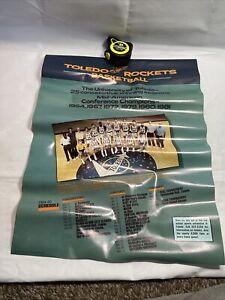 1984 1985 UNIVERSITY OF TOLEDO ROCKETS BASKETBALL POSTER SCHEDULE M5