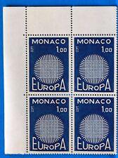 BLOC DE 4 TIMBRES   MONACO  N° 821 EUROPA   NEUF **  MNH BD63