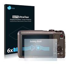 6x Sony Cyber-Shot DSC-HX20V Displayschutzfolie Klar Schutzfolie Displayfolie