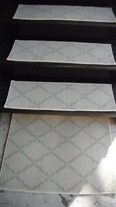"""15 Indoor Stair Treads  9""""x 27""""     100%  Woven Wool"""
