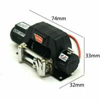 Schwarz 1:10 Seilwinde für Traxxas TRX-4 Axial SCX10 D90 D110 TF2 TRX4 KM2 Autos