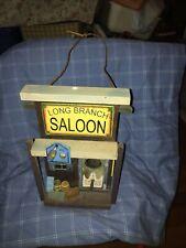 """Wooden """" Long Branch Saloon """" Bird House Matt Dillion Gunsmoke Porch Home Decor"""