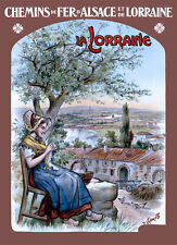 Affiche chemin de fer Alsace Lorraine - La Lorraine