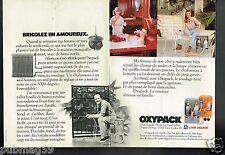 Publicité advertising 1980 (2 pages) L'Air liquide Oxypack