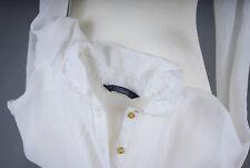 "L099/08 Unique Ethereal ""C&A"" Clockhouse Chiffon Smart Formal Cream Shirt, UK 10"