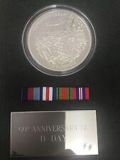 D-Day Débarquement £ 10 PROOF Argent 5 oz (environ 141.75 g) Coin Royal Comme neuf collection TIN BOX + COA etc