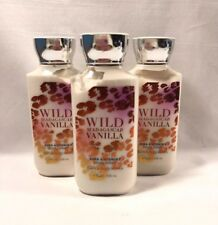 Bath and Body Works Body Lotion Hand Cream 8 oz WILD MADAGASCAR VANILLA x3 New
