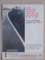 1966 OLDSMOBILE TORONADO  ***ORIGINAL VINTAGE AD***