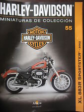 FASCICULE 55  MOTO COLECCION HARLEY DAVIDSON XL 883 SPORTSTER 2002