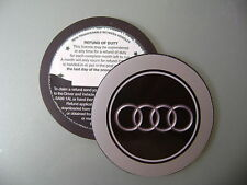 Magnetic Tax disc holder fit any audi as a1 a2 a3 a4 a5 a7 a8 q5 q7 tt roadster