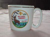 VINTAGE BSA BOY SCOUTS OF AMERICA 1969 NATIONAL JAMBOREE IDAHO CERAMIC CUP MUG