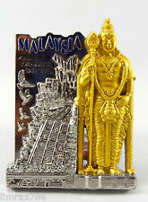 SOUVENIR METAL FRIDGE MAGNET OF MALAYSIA BATU CAVES WORLD TALLEST LORD MURUGAN