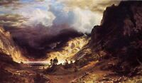 Art Oil painting Albert Bierstadt A Storm in the Rocky Mountains Mr. Rosalie 36""