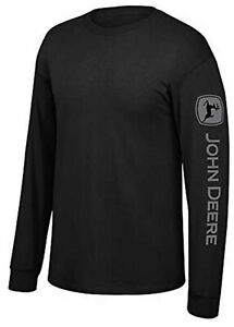 NEW John Deere Black Long Sleeve NRLAD on Arm T-Shirt Size M, L, XL, 2X,