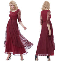 Retro Vintage Long Maxi Lace Evening Party Cocktail Bridesmaids Dress Ball Gown