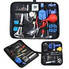Watch Link Opener Repair Remover Holder Tool Kit Set Pin Screwdriver + Case Bag