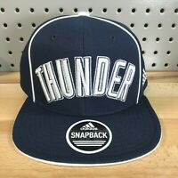 Oklahoma City Thunder OKC NBA Basketball Adidas Snap Back Hat Flat Bill Cap NWT