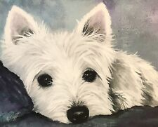 West Highland Terrier Westie Print from Painting art Dog Blank Note Cards