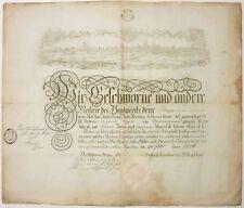 Artisanat-témoignage, Boucher, acte, Nuremberg, 1806