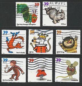 Scott #3987-94 Used Set of 8, Favorite Children's Book Animals