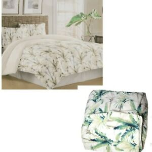 Tommy Bahama Home Queen Sz Catalina Palm Tropical 3 Piece Comforter Set 2 Shams