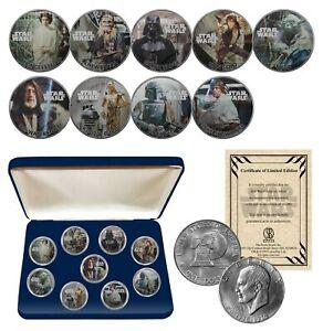 STAR WARS Genuine 1976 Eisenhower Dollar 9-Coin Set w/ BOX - OFFICIALLY LICENSED