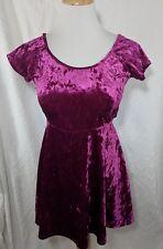 Forever 21 Pink Fushia Velvet Skater Dress Medium