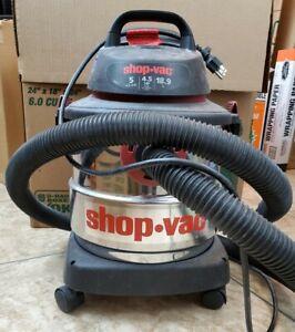 Shop-Vac® 5 Gallon* 4.5 Peak HP** Stainless Steel Wet Dry Vac.- SS11-450