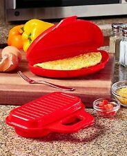 Microwave Omelette And 2 Egg Poacher Set Kitchen Cook Mold Pan Tool Gadget Meal