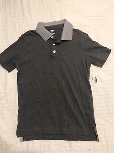 Old Navy Boys Gray Polo Shirt Size 6-7