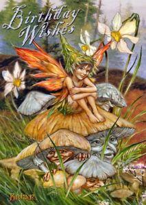 Fairy Pagan Wicca Alternative Greetings Card Birthday Wishes Mushroom Fairy BM49