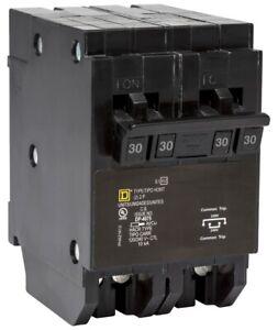 Square D Homeline Quad Circuit Breaker 30 amp 2 pole HOMT230230 BRAND NEW