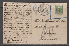 Denmark / Norway 1910. incom. postcard w/ danish stamp not accepted. Postage due