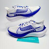 Nike Men's SIZE 8 Zoom Gravity Running Shoes White Clear Racer Blue BQ3202-100