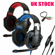 🔥3.5mm Gaming Headset MIC LED Headphones for PC SW Laptop PS4 Slim Xbox One X S