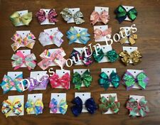 Lot of 6 unicorn mermaid scales mix Girls Baby Toddler Boutique hair bow clips