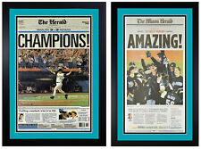 Florida Marlins World Series Rare Newspaper Covers from 1997 & 2003 Framed!!!