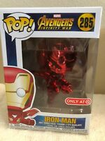 Funko Pop! Marvel AVENGERS INFINITY WAR RED CHROME IRON MAN Target Exclusive NEW