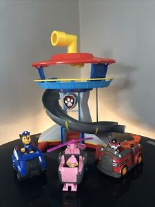 Paw Patrol tower, pups and vehicles Lights And Voice Tested Working  + Vehicles